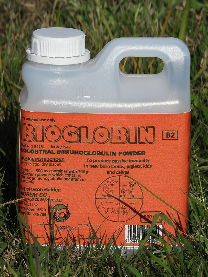 Bioglobin is used for treating diarrhoea in lambs